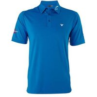 Callaway Solid Interlock Polo w/ mesh - Magnetic Blue