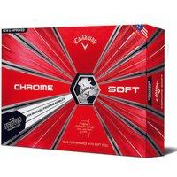 Callaway Chrome Soft Truvis Golf Balls - White/black - 1 Dozen