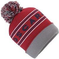 Oscar Jacobson Block Knitted Golf Hat - Dark Blue
