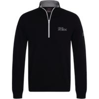 Oscar Jacobson Bradley Tour Half Zip Sweater - Black Small