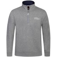 Oscar Jacobson Bradley Tour Half Zip Sweater - Light Grey Small