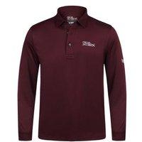 Oscar Jacobson Hubert Long Sleeve Polo Shirt - Red Large