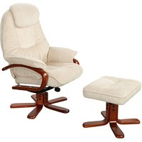 Hong Kong Beige Recliner and Footstool