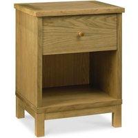 Atlanta Oak 1 Drawer Bedside Table