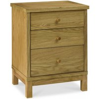 Atlanta Oak 3 Drawer Bedside Table