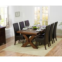 Bordeaux 200cm Dark Solid Oak Extending Dining Table with WNG Chairs
