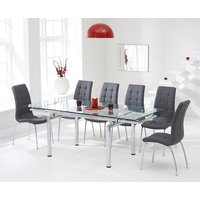 Calgary 140cm Extending Glass Dining Table with Calgary Chairs