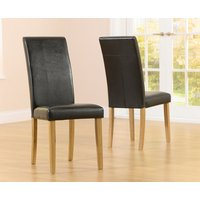 Albany Brown Chairs  Pair