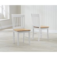 Amalfi Oak and White Dining Chairs  Pair
