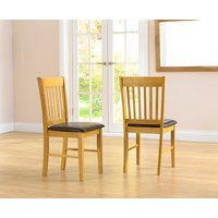 Amalfi Oak Dining Chairs  Pair
