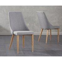 Ashbourne Grey Fabric Dining Chair