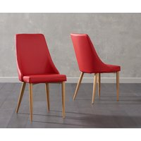Ashbourne Red Faux Leather Dining Chair