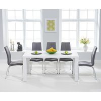 Atlanta 180cm White High Gloss Dining Table with Cavello Chairs