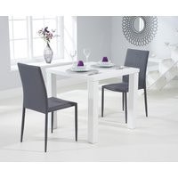 Atlanta 80cm White High Gloss Dining Table with Atlanta Stackable Chairs