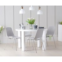 Atlanta 120cm Round High Gloss Table with Nordic Chrome Leg Chairs