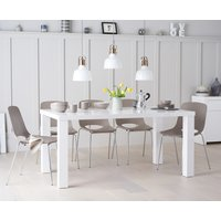 Atlanta 180cm White High Gloss Table with Nordic Chrome Leg Chairs