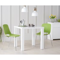 Atlanta 80cm White High Gloss Dining Table with Nordic Chrome Leg Chairs