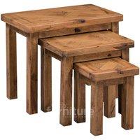 Huari Solid Oak Nest of Tables