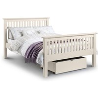 Basel Stone White High Foot End Solid Pine Double Bed