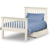 Basel Stone White Low Foot End Solid Pine Single Bed