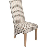 Abella Regency Striped Fabric Dining Chairs (Pair)