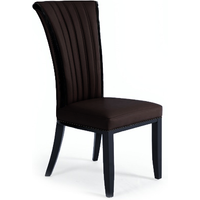 Alpine Brown Leather Dining Chairs