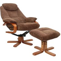 Hong Kong Chocolate Recliner and Footstool
