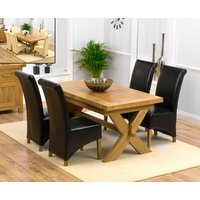 Bordeaux 160cm Solid Oak Extending Dining Table with Kentucky Chairs