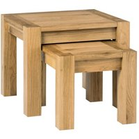 Lyon Oak Nest of Lamp Tables