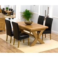 Bordeaux 200cm Solid Oak Extending Dining Table with Rustique Chairs