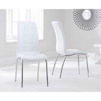 Calgary Ivory White Chairs  Pair