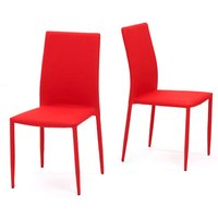 Atlanta Red Stackable Dining Chairs  Pair