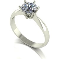 Moissanite 9ct Gold 1 00ct eq Finesse Solitaire Ring 237532