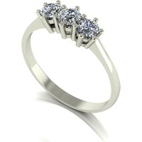 Moissanite 9ct Gold 0 50ct eq Trilogy Ring 237910