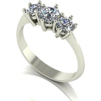 Moissanite 9ct Gold 1 00ct eq Trilogy Ring 241472