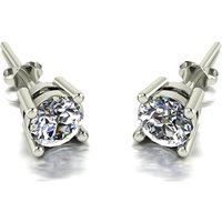 Moissanite 9ct Gold 1 00ct eq Finesse Solitaire Earrings  p  241476