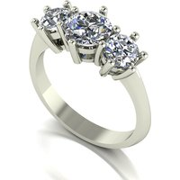 Moissanite 9ct Gold 2 00ct eq Trilogy Ring 251608