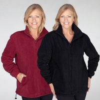 Pack of 2 Anti-Pill Fleece Unisex Fully Lined Jackets 258474