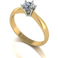 Moissanite 9ct Gold 0 50ct eq Finesse Solitaire Ring 264531