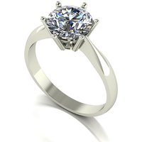Moissanite 9ct Gold 2 00ct eq Finesse Solitaire Ring 264532