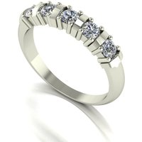 Moissanite 9ct Gold 0 50ct eq Eternity Ring 302132