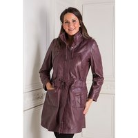Woodland Leather Ladies Drawstring Parka with Cuffs 302597