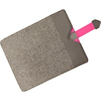 Dicota Grey Wool with Pink detail Protective Sleeve for iPads 306846