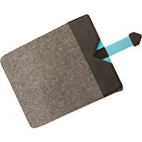 Dicota Grey Wool with Blue detail Protective Sleeve for iPads 306847