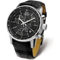 Vostok Europe Gents GAZ-14 Limo 6S30 Miyoto Quartz Chronograph Watch with Black Leather Strap 331251