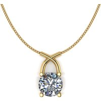 Lady Lynsey 9ct Gold 1.00ct eq Kiss Solitaire Pendant 336092