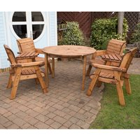 Charles Taylor Circular Table and 4 Chairs with FREE Pair of Detachable Trays 341692