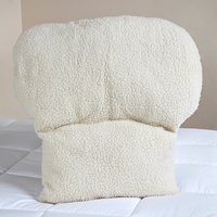 Faux Sheepskin Lumbar Support Back Rest Cushion 355659