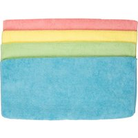 Pack of 4 Microfibre Cloths Assorted Colours 368264