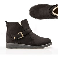 Cushion Walk Suedette Buckle Ankle Boot 369195